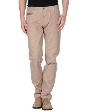 Повседневные брюки 2 MEN. Цвет: бежевый