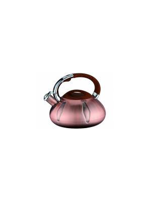 Чайник с автоочисткой, медное покрытие, 3,5 л Peterhof. Цвет: коричневый
