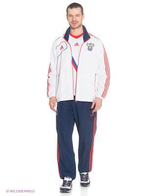 Спортивный костюм Adidas. Цвет: темно-синий, белый