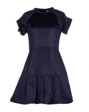 Короткое платье DRESS GALLERY. Цвет: темно-синий