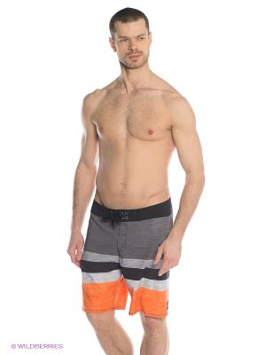 Бордшорты KELLY UEA19 Quiksilver. Цвет: оранжевый, серый, светло-серый