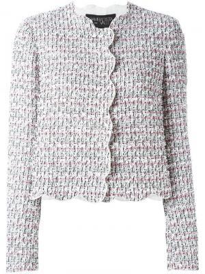Приталенный твидовый пиджак Giambattista Valli. Цвет: белый