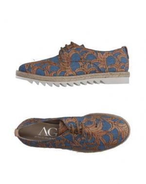 Обувь на шнурках AGL ATTILIO GIUSTI LEOMBRUNI. Цвет: лазурный