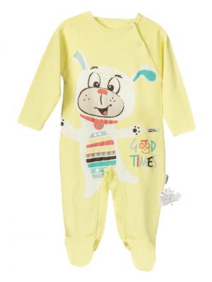 Комбинезон для малышей WO&GO. Цвет: желтый