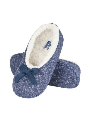 Тапки-балетки женские SOXO. Цвет: голубой
