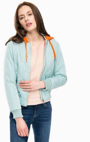 Куртка-бомбер мятного цвета с капюшоном Mavi. Цвет: мятный