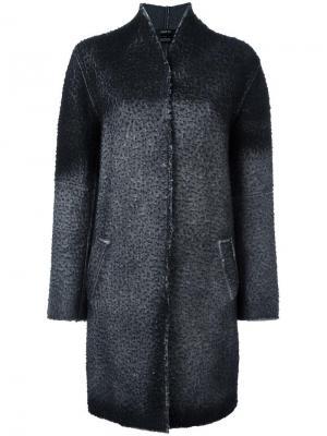Пальто с эффектом градиент Avant Toi. Цвет: чёрный