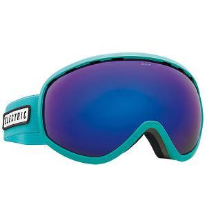 Маска для сноуборда  Masher Turquoise/Brose/Blue Chrome Electric. Цвет: голубой