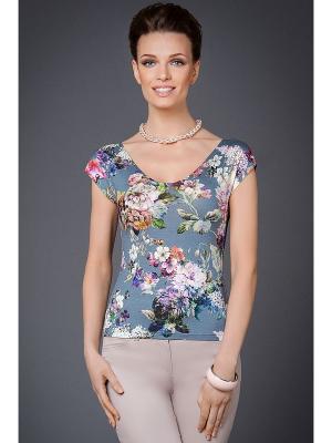 Блузка Арт-Деко. Цвет: серый, бежевый, розовый