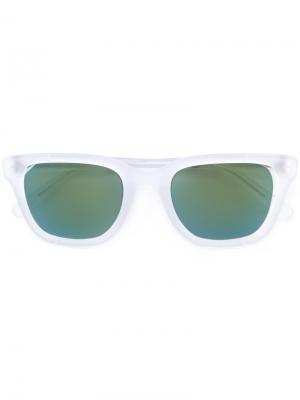 Солнцезащитные очки в квадратной оправе Retrosuperfuture. Цвет: белый