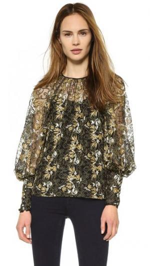 Блуза с широкими рукавами Wes Gordon. Цвет: черный мульти