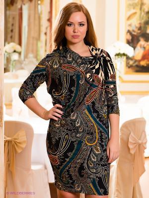 Платье МадаМ Т. Цвет: темно-синий, синий, терракотовый, молочный