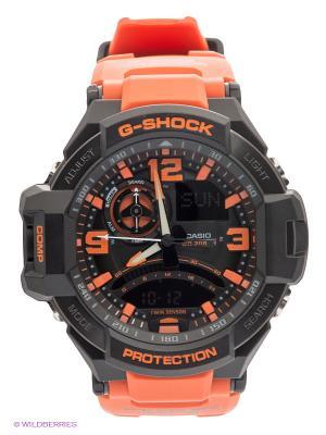 Часы G-SHOCK GA-1000-4A CASIO. Цвет: черный, оранжевый