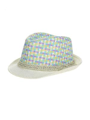 Шляпа Migura. Цвет: белый, бирюзовый, фиолетовый, желтый