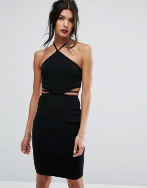 Bec & Bridge Платье с поясом India Rosa. Цвет: черный