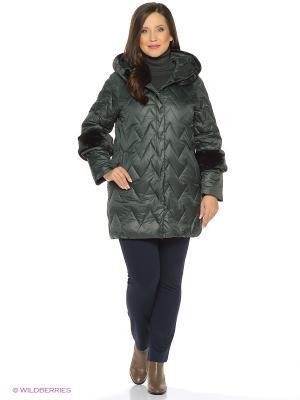 Куртка FREYA. Цвет: зеленый
