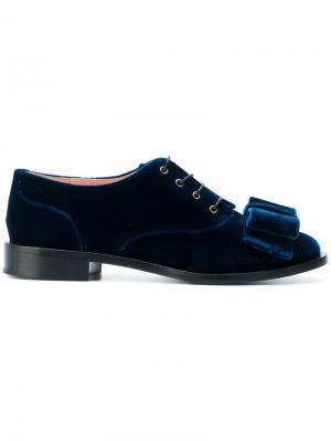 Туфли с бантом Rochas. Цвет: синий