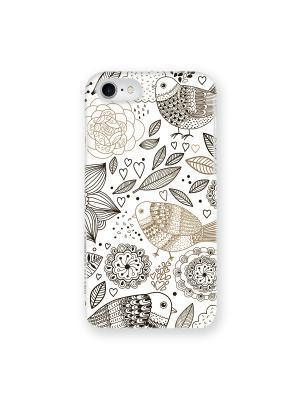 Чехол для iPhone 7 Цветы и Птички IP7.MITYA-020 Mitya Veselkov. Цвет: черный, бежевый, белый