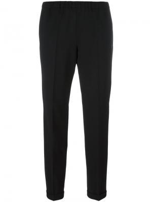 Зауженные брюки со складками Alberto Biani. Цвет: чёрный