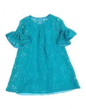 Платье LA STUPENDERIA. Цвет: бирюзовый