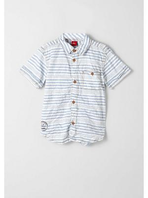Рубашка S.OLIVER. Цвет: голубой, белый