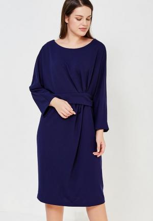 Платье Goddiva Size Plus. Цвет: синий