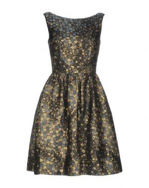 Короткое платье ERDEM. Цвет: темно-синий