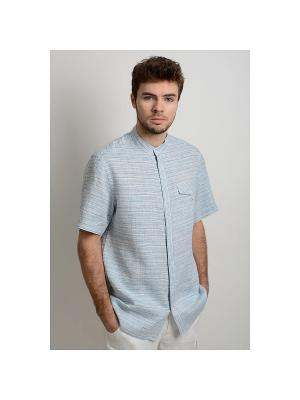 Рубашка Леон LINO RUSSO. Цвет: голубой