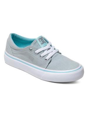 Кеды DC Shoes. Цвет: зеленый, светло-серый, белый