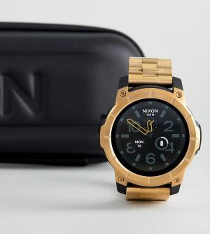 Nixon Золотистые наручные смарт-часы Mission SS. Цвет: золотой