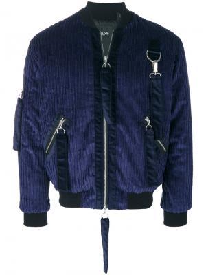Куртка-бомбер Weir Blood Brother. Цвет: синий