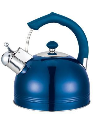 Чайник со свистком (газ/электро/индукция), 3 л BAYERHOFF. Цвет: синий