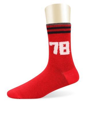 Носки спортивные -комплект 2 пары Glamuriki. Цвет: красный