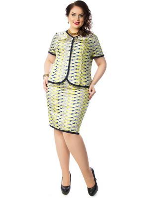 Комплект одежды Wisell. Цвет: желтый, синий