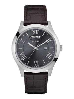 Часы GUESS. Цвет: серебристый, черный, темно-коричневый