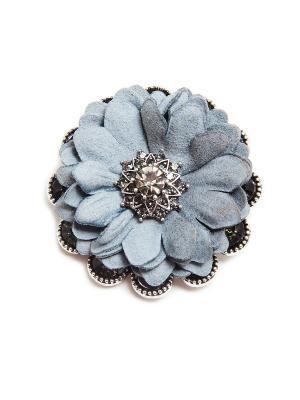 Брошь Asirelly. Цвет: серо-голубой, серебристый