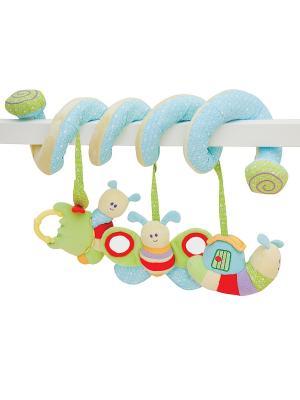Игрушка-спираль гусеница для детской кроватки Little Bird Told Me. Цвет: зеленый