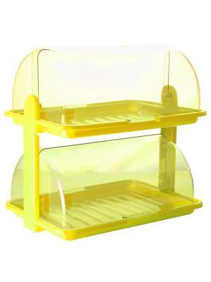 Хлебница двухъярусная Plastic Centre. Цвет: желтый
