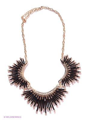 Колье Lovely Jewelry. Цвет: черный, золотистый