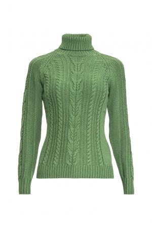 Джемпер из шерсти с шелком 136701 Sweet Sweaters. Цвет: зеленый