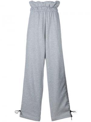 Широкие брюки с мешковатым поясом Circus Hotel. Цвет: серый
