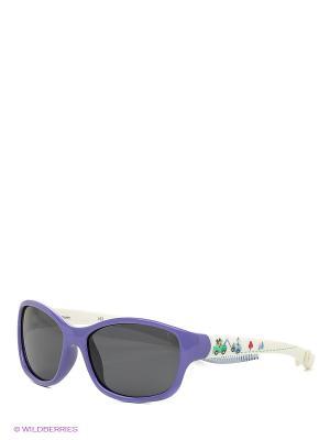 Солнцезащитные очки Polaroid. Цвет: фиолетовый, белый