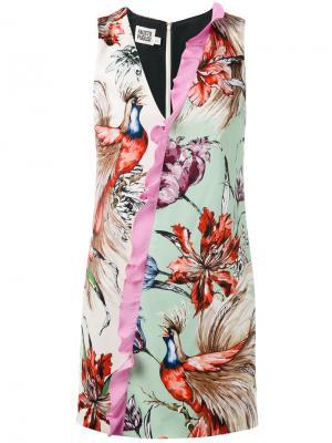 Платье с цветочным принтом Fausto Puglisi. Цвет: многоцветный