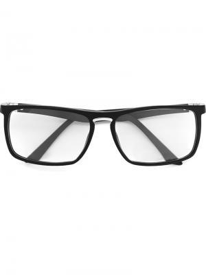 Оптические очки в прямоугольной оправе Tag Heuer. Цвет: чёрный