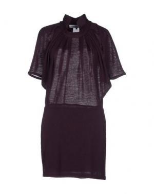 Короткое платье AMAYA ARZUAGA MAILLE. Цвет: баклажанный