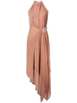 Платье Velvet Isabella Bianca Spender. Цвет: телесный