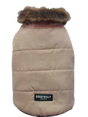 Пальто Doggy Dolly. Цвет: кремовый