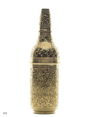 Шкатулка для бутылки латунь резная ETHNIC CHIC. Цвет: золотистый