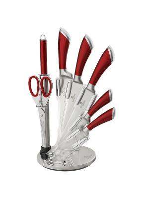 Набор ножей на подставке, 8 предметов BERLINGERHAUS. Цвет: красный