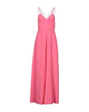 Длинное платье MOSCHINO CHEAP AND CHIC. Цвет: фуксия